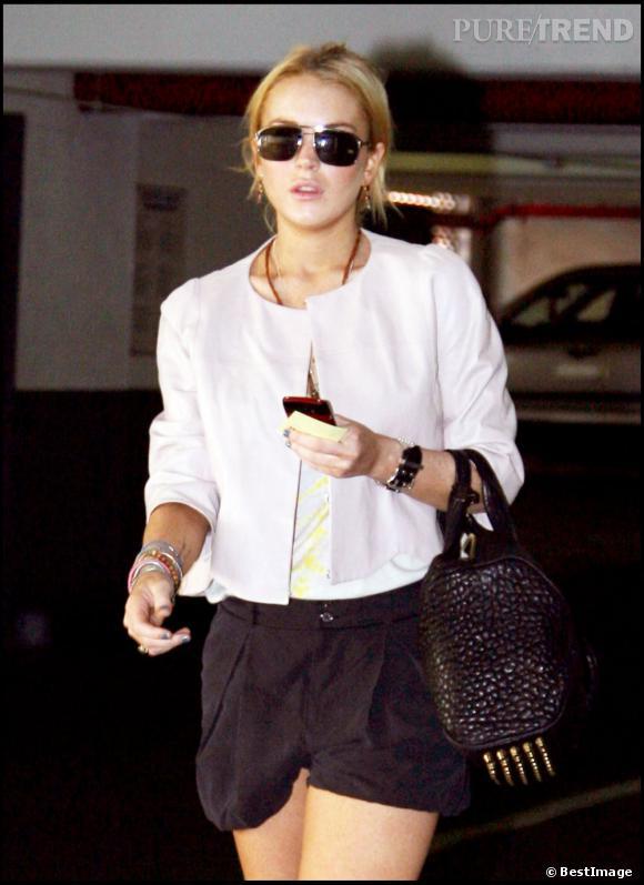 Lindsay Lohan à l'époque où elle avait encore du style. Elle ne prend pas de risque avec le Coco Duffel.