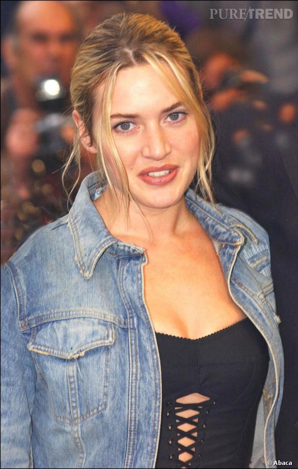 Kate Winslet n'a pas échappé à la mode des deux mèches qui tombent à l'avant du visage.