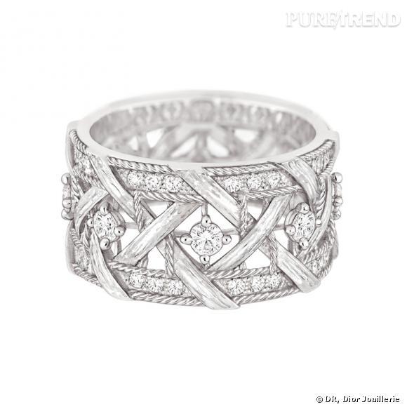 Connu Bague My Dior Bague en or blanc et diamants. YI88