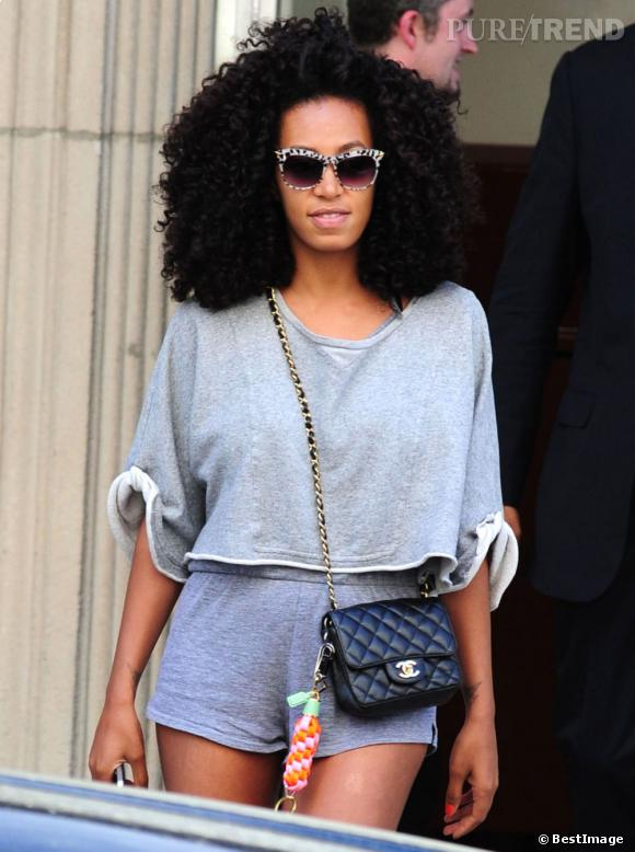 Solange Knowles sort de chez Beyoncé à New York.