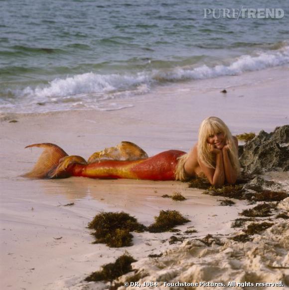 """Daryl Hannah abandonnée sur une plage en 1984 dans """"Splash"""" de Ron Howard."""
