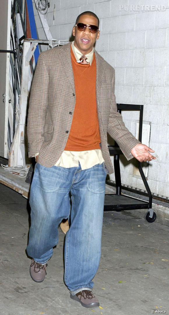 """En 2004 :  Un look """"british"""" from the block pour le rappeur."""