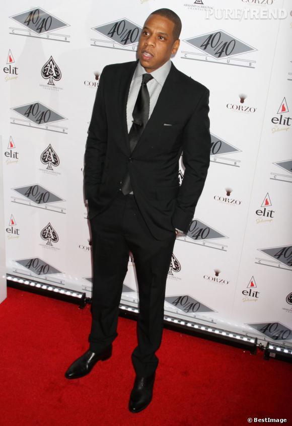 En 2012  : Jay-Z, look sérieux pour l'homme le plus en vogue des Etats-Unis.