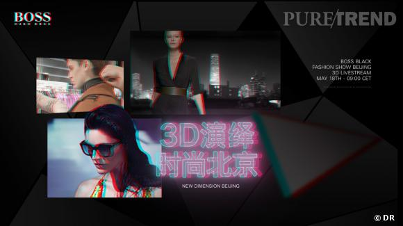 New Dimension Beijing d'Hugo Boss : un défilé à Beijing.