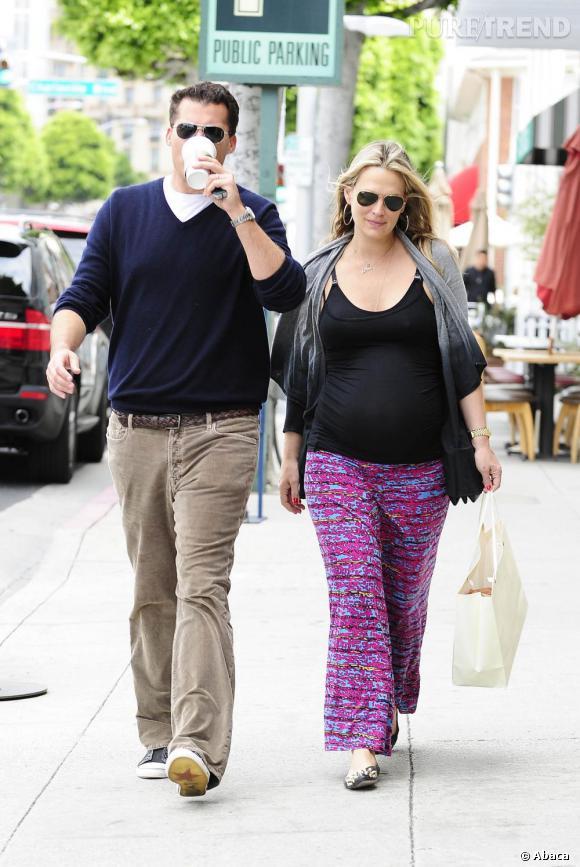 Molly Sims et son mari.