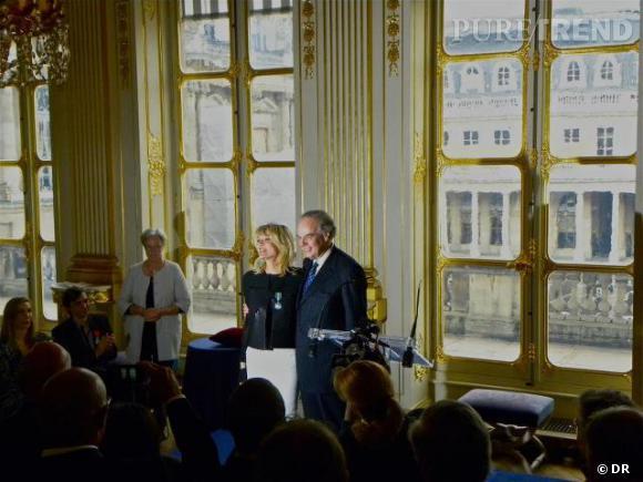 Marie France décorée par Frédéric Mitterrand le vendredi 4 mai 2012