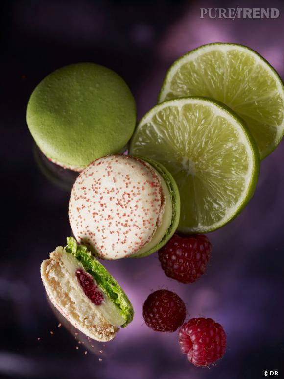 Macarons Collection Jardin Enchanté (Citron vert, framboise & piment d'espelette), Pierre Hermé