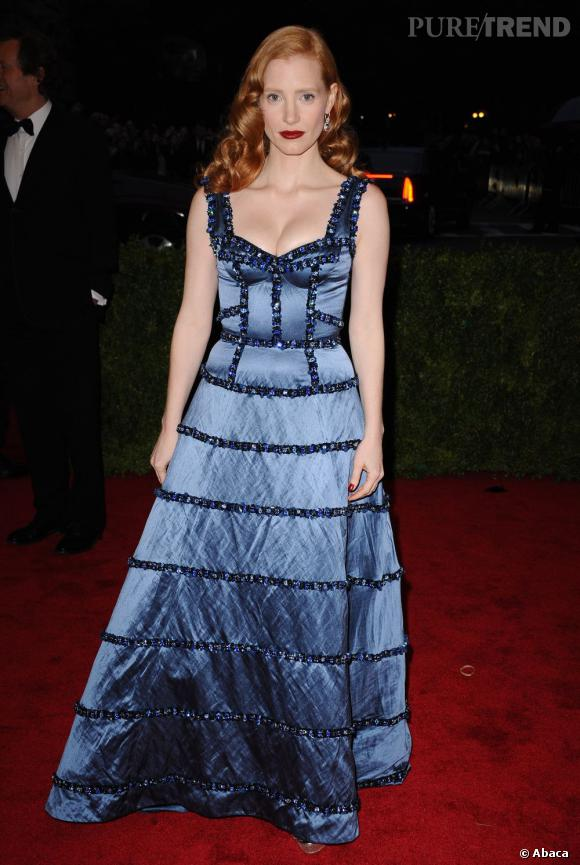 Jessica Chastain au MET Ball 2012 à New York.