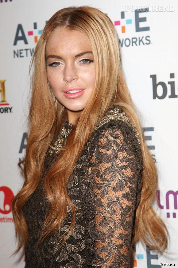 Lindsay Lohan à la soirée A&E Network à New York.