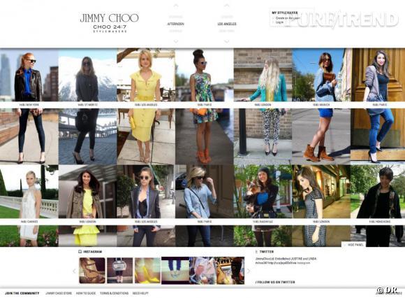 """""""Choo 24:7 Stylemakers"""", le nouveau site de streetstyle de Jimmy Choo."""