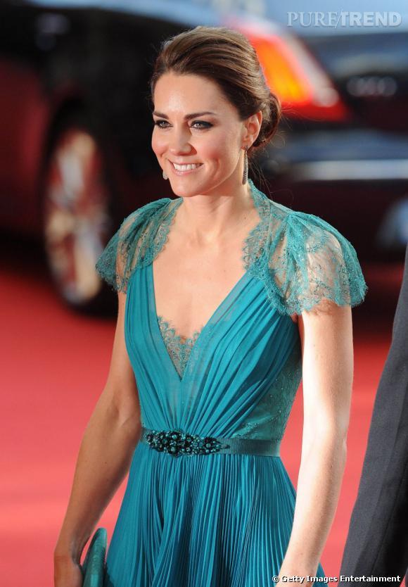 Kate Middleton arrive au gala en l'honneur des athlètes britanniques pour les Jeux Olympiques de Londres