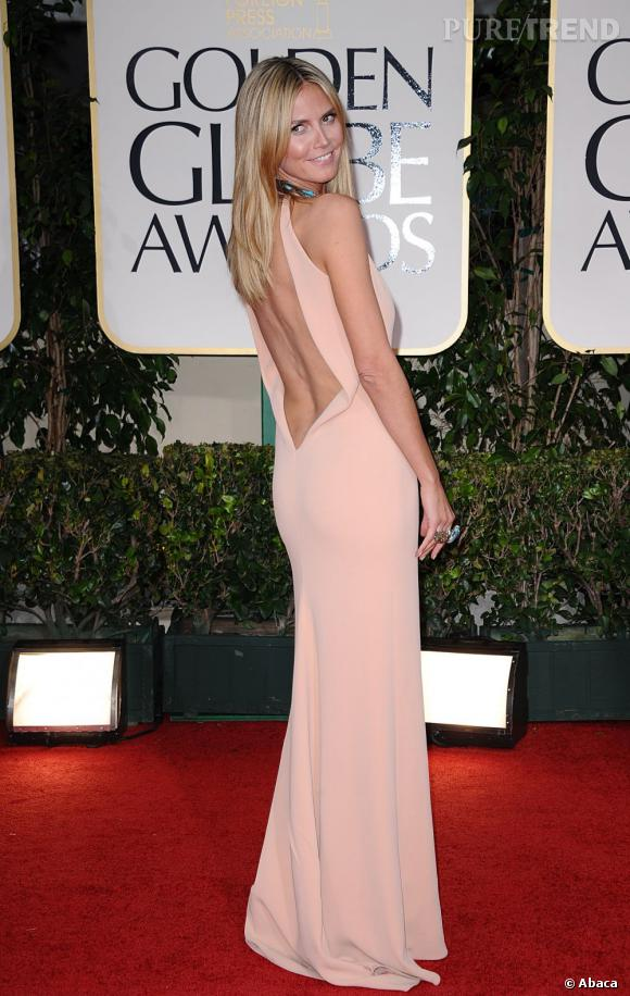 Heidi Klum maîtrise le nude comme une pro en Calvin Klein.