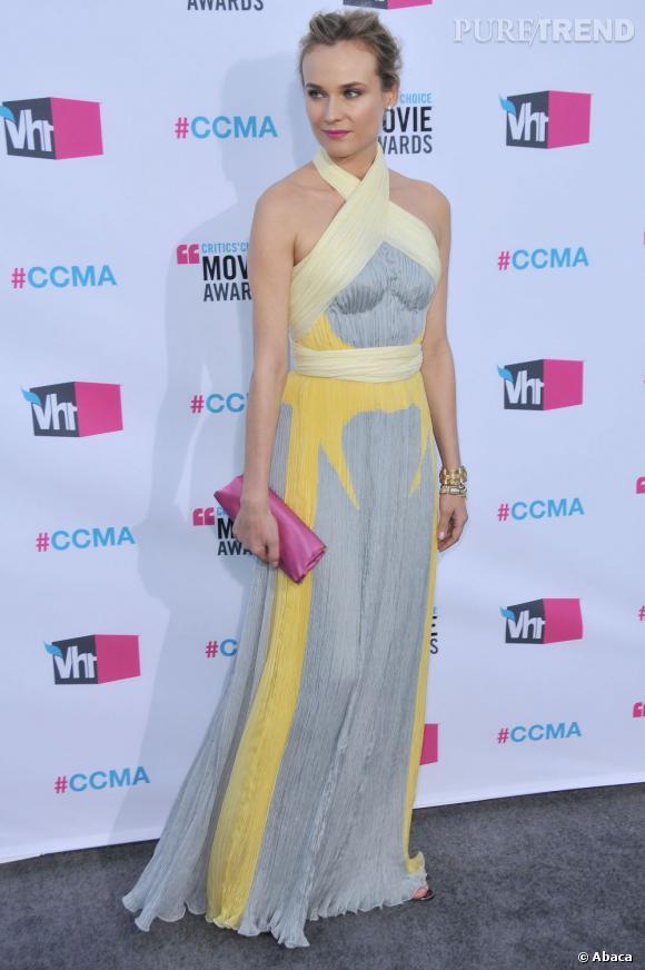 Diane Kruger déesse grecque en Prada.