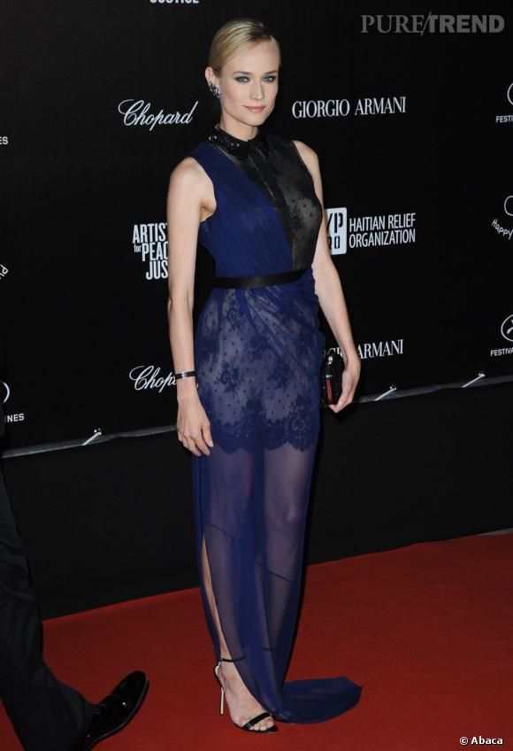 Transparence en Jason Wu, Diane Kruger porte une création Croisière 2013 en avant-première.