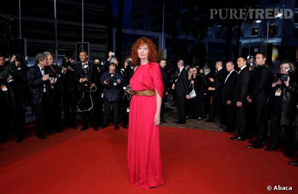 """Sabine Azema à la sortie de la projection de """"Vous n'avez encore rien vu""""."""
