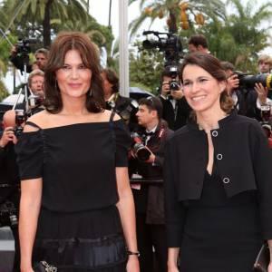 L'actrice Marina Hands en Nina Ricci aux côtés de la nouvelle Ministre de la Culture, Aurélie Filippetti.