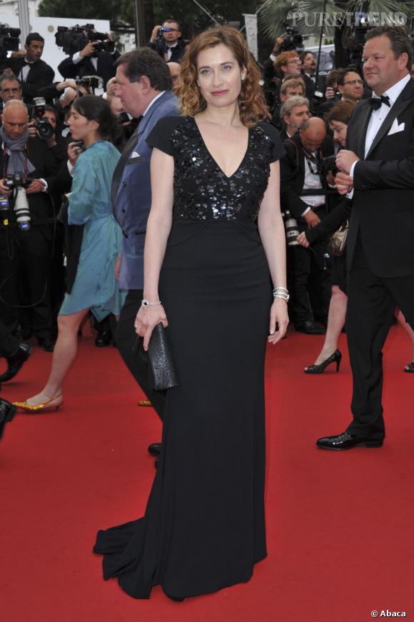 Emmanuelle Devos, l'élégance sexy en Elie Saab.
