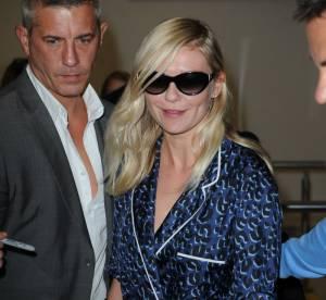 Kirsten Dunst plane en pyjama