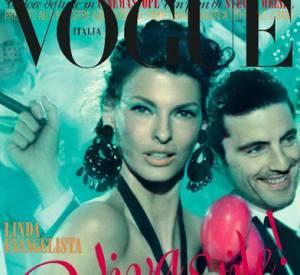 Linda Evangelista, fantasque pour le Vogue Italie.