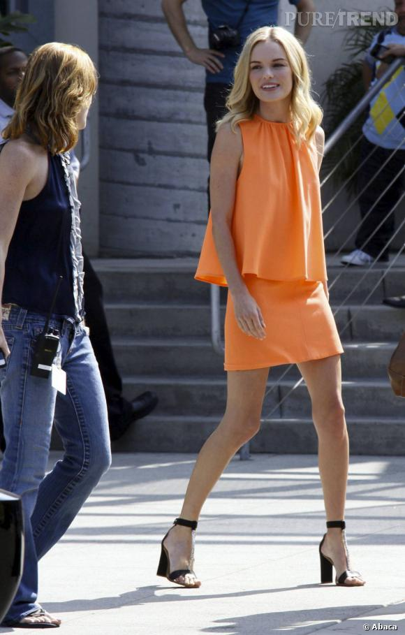 Kate Bosworth a toujours affiché une silhouette longiligne. Pour se départir de ses airs d'adolescente, on lui recommanderait bien de prendre quelques kilos.