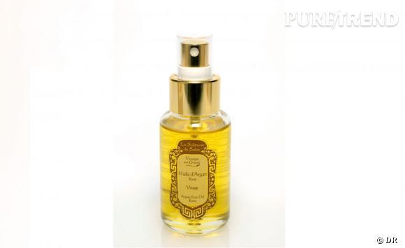 L'huile d'argan est l'un des secrets de la beauté orientale. Hydratante et cicatrisante, elle s'applique sur le corps pour une peau satinée.    Huile d'argan, La Sultane de Saba, 31 €