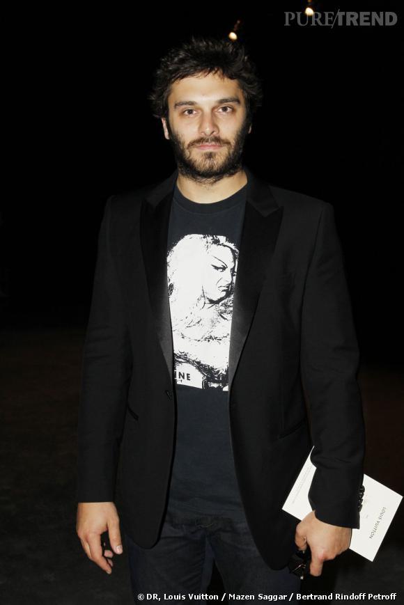 Pio Marmaï en front row du défilé Louis Vuitton Homme Printemps-Eté 2013