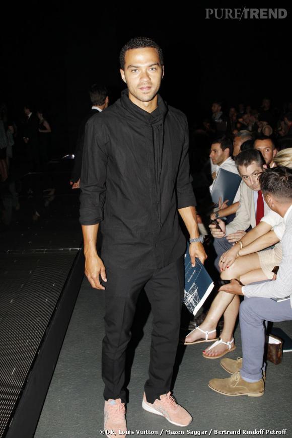 Jesse Williams au défilé Louis Vuitton Homme Printemps-Eté 2013