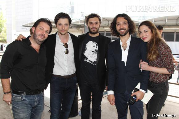 Carl Ganem, Raphaël Personnaz, Pio Marmaï, Benjamin Cercio et une amie