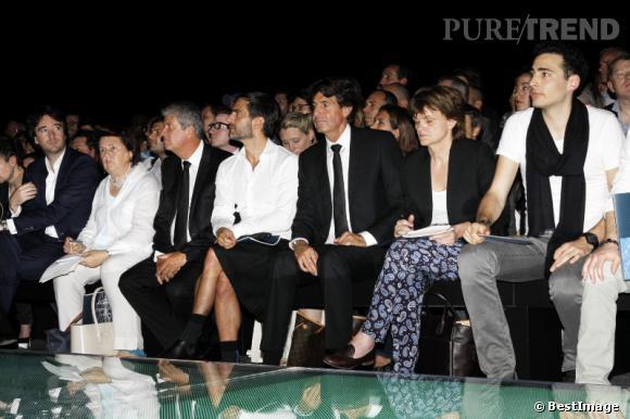 Front row au défilé Louis Vuitton Homme