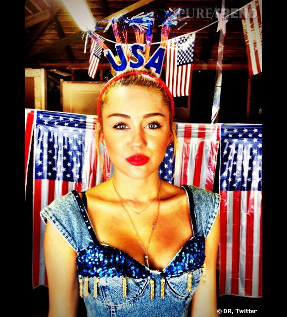 Miley Cyrus n'y va pas de main morte lorsqu'elle fête le 4 juillet ! Sa nouvelle photo de profil est très patriotique !