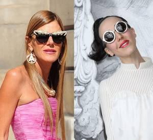 Anna Dello Russo et Michelle Harper : le bal des excentriques de la Fashion Week Haute Couture Automne-Hiver 2012/2013.