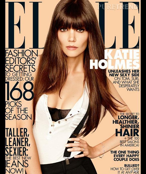 Katie Holmes pour le Elle US.