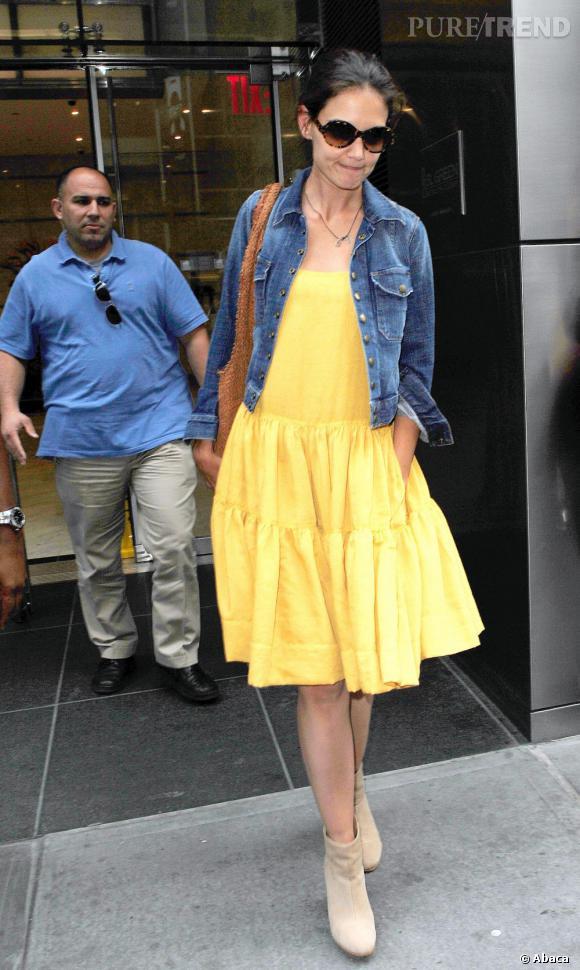 Katie Holmes à New York.