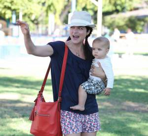 Selma Blair et Arthur : balade à West Hollywood en bleu-blanc-rouge