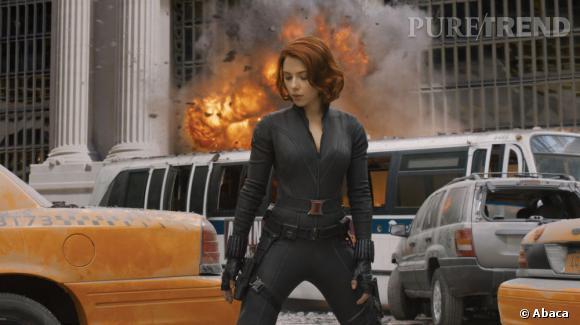 """Scarlett Johansson moulée dans une combinaison sexy : bon nombre de spectateurs ne sont allés voir """"Avengers"""" que pour l'actrice !"""