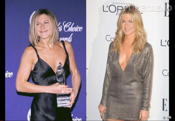 Jennifer Aniston, avant et après sa rupture... On sent la différence.