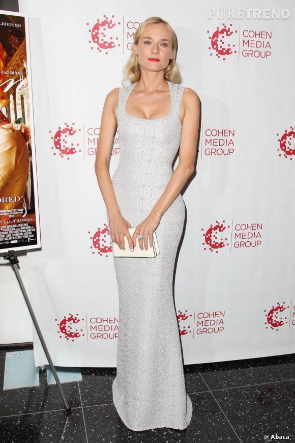 Diane Kruger ne semble pas vouloir sortir des tops de la semaine.      Elle nous charme de nouveau dans une robe Azzedine Alaïa