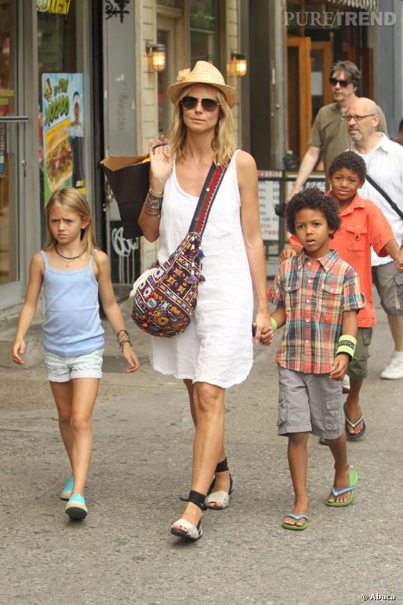 Heidi Klum, femme hyperactive et maman dévouée au style impeccable.