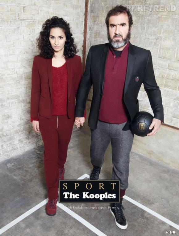 Campagne The Kooples Sport, Automne-Hiver 2012/2013. Rachida Brakni et Éric Cantona