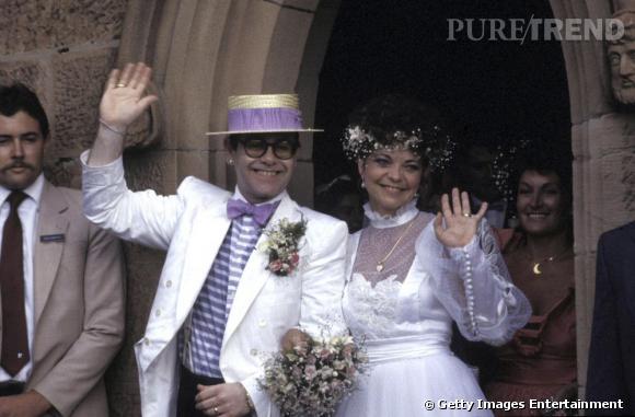 Aussi incroyable que cela soit, Elton John a déjà été marié. A une femme