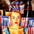 Chez Miley on est du genre à célébrer le 4 juillet de façon sexy et ultra-maquillée.