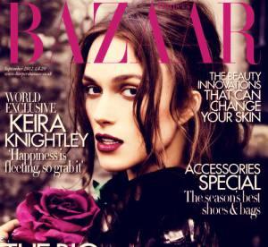Keira Knightley, mystique pour sa première cover du Harper's Bazaar anglais