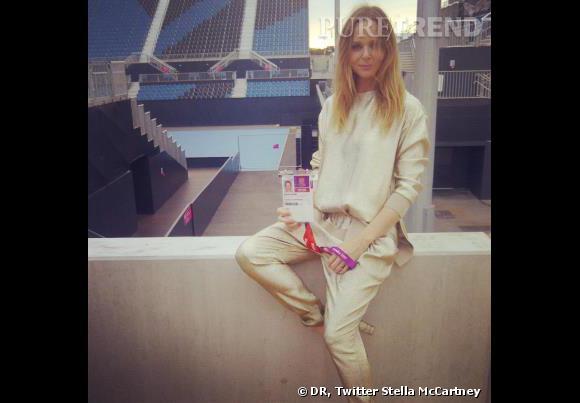 Stella McCartney au stade paralympique.