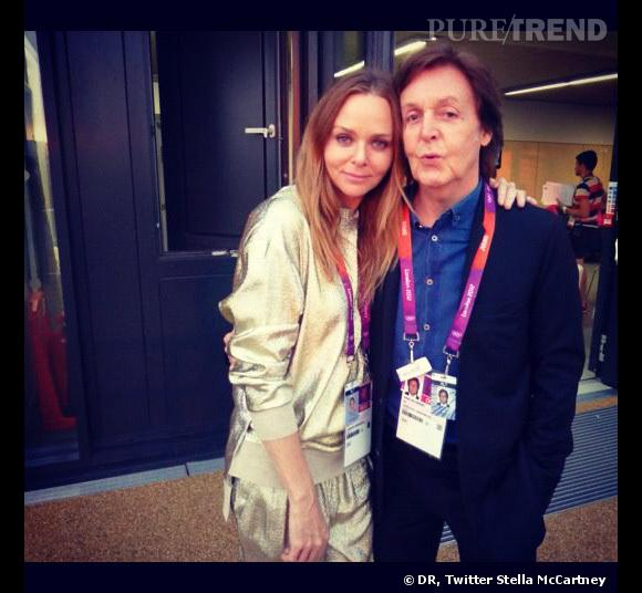 Stella McCartney et son père, le célèbre Beatles Paul McCartney.