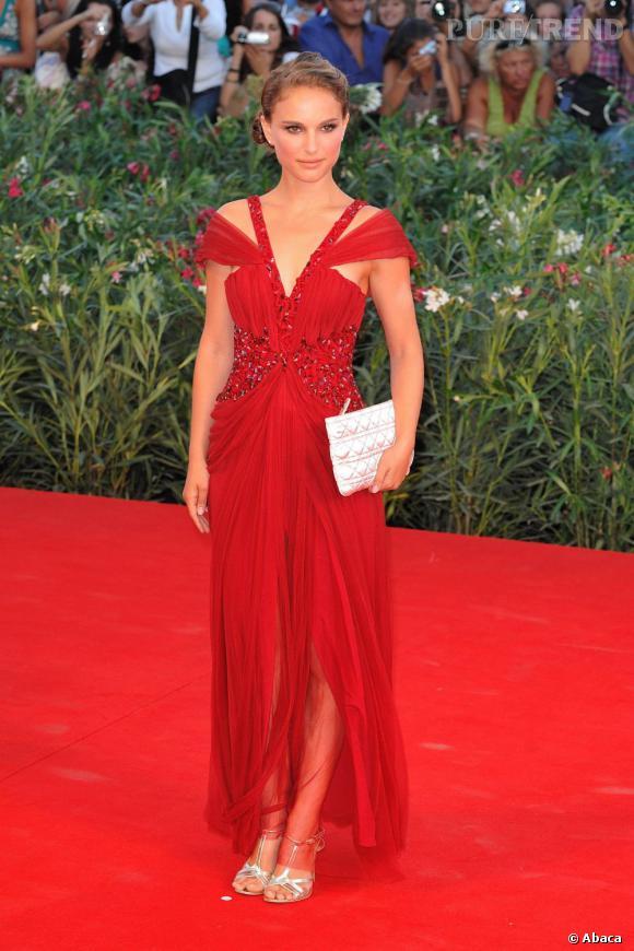 Natalie Portman en Rodarte à Venise pour le Festival du Film.