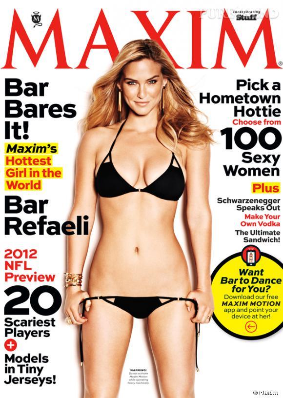 Bar Refaeli, aguicheuse en couverture du september issue du magazine Maxim.