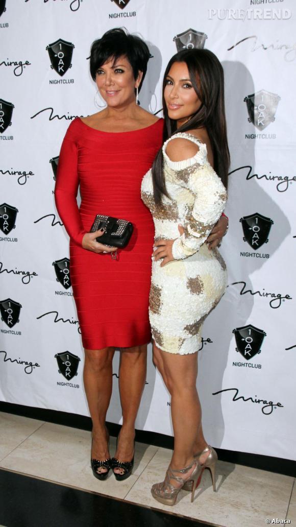 Kris Jenner et sa poule aux oeufs d'or alias Kim Kardashian.