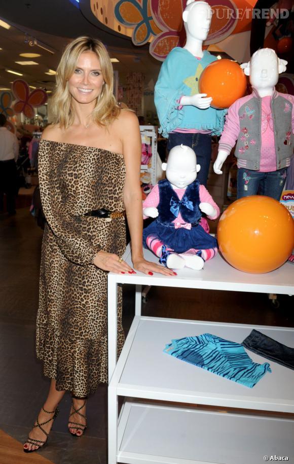Heidi Klum et sa nouvelle collection de vêtements pour enfants.