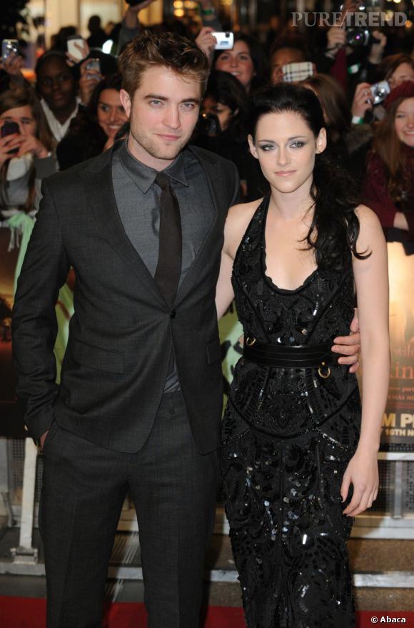 """Kristen Stewart et Robert Pattinson, lors de la promotion de l'avant-dernier """"Twilight""""."""