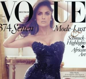 Salma Hayek, sexy en diable et très ''Savages'' pour le Vogue allemand
